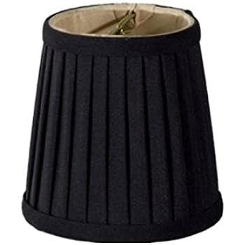 Upgradelights Black Silk Side Pleat 4 Inch Chandelier Shade Mini ...