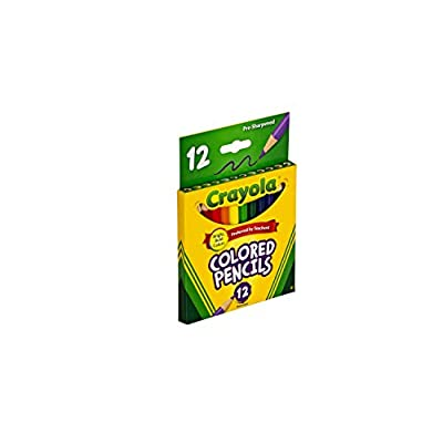Crayola 68-4112 Colored Pencils, Short, 12-Pack: Toys & Games