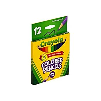 Crayola 68-4112 Colored Pencils, Short, 12-Pack