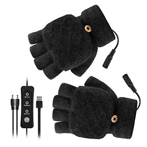 1 Paar USB Verwarmde Handschoenen Dames Heren Want Winter Handen Warme Laptop Handschoenen Met 3 Instellingen Volledige…
