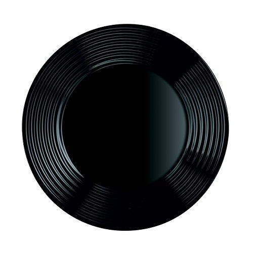 Luminarc Harena N&B Vajilla de 18 Piezas, Blanco Y Negro: Amazon.es: Hogar