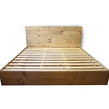 Amazon Com Wooden Platform Bed Frame And Headboard