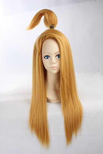 [Cosplay Wig Blonde Wig Long Blonde Straight Wig Deidara NARUTO Wigs] (Naruto Deidara Cosplay Costume)