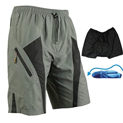 TRUVELO Mens Mountain Loose-fit Biking Shorts Padded Coolmax Cycling MTB Short M L Xl 2XL 3XL 4XL