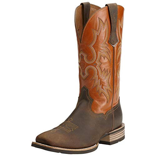 ARIAT Tombstone Western Boots, Distressed Brown, 13 2E (Wide)