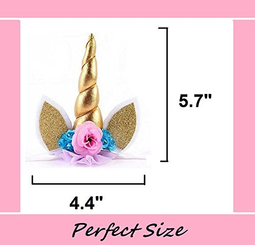 Prime Arts USA | 3D Unicorn Cake Topper with Eyelashes and Headband | DIY Unicorn Party Supplies Cake Decoration Kit for… 4