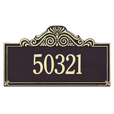 Black Pewter Address Number - Villa Nova Estate Address Plaque Finish: Pewter and Silver