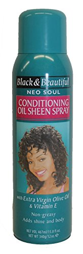 - Black & Beautiful Neo Soul Conditioning Oil Sheen Spray for Women 15.8 Fl Oz with Vitamin E & Extra Virgin Olive Oil