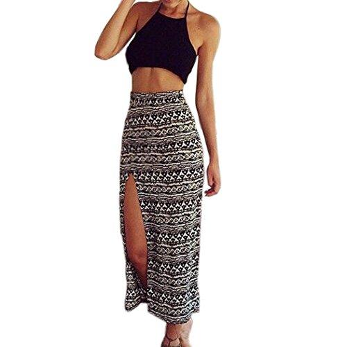 wallcart Women Two Piece Sleeveless Dress Set Bralet Crop Tank Top+Long Maxi Skirt