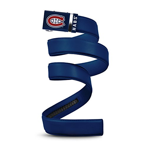 NHL Montreal Canadiens Mission Belt, Navy Leather Ratchet Belt, Small (Up to - Shops Montreal Airport