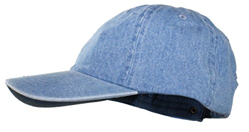 Ted and Jack - Oceanside Solid Color Adjustable Baseball Cap (Light Blue Denim)
