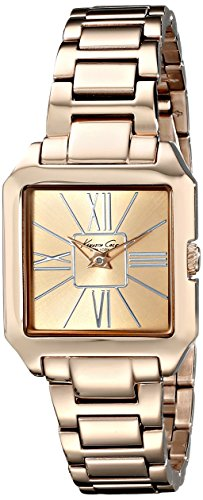 Kenneth Cole New York Women's Quartz Stainless Steel Case Stainless Steel Bracelet Rose Gold,(Model:KC4983)