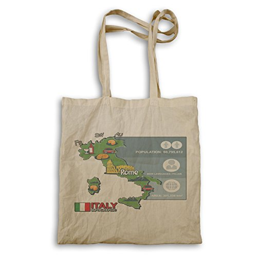 Infographic Italy Rome Funny Novelty Carrying Bag A666r