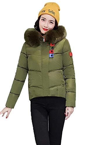 Femme Courte Manteau Warm Thermo Hiver Gaine A Capuche Manches Longues Unicolore Art Fourrure Costume avec Poches avec Fermeture
