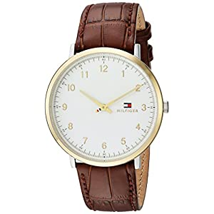 Tommy Hilfiger Men's 'SOPHISTICATED SPORT' Quartz Silver and Gold and Leather Casual Watch, Color:Brown (Model: 1791340)