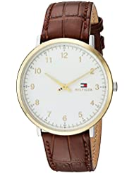 Tommy Hilfiger Mens SOPHISTICATED SPORT Quartz Silver and Gold and Leather Casual Watch, Color:Brown (Model...