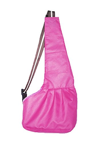 Pet Dog Puppy Cat Carrier Bag Oxford Cloth Sling Dog Doggy Cat Carrier Single Shoulder Bag-Small,Pink
