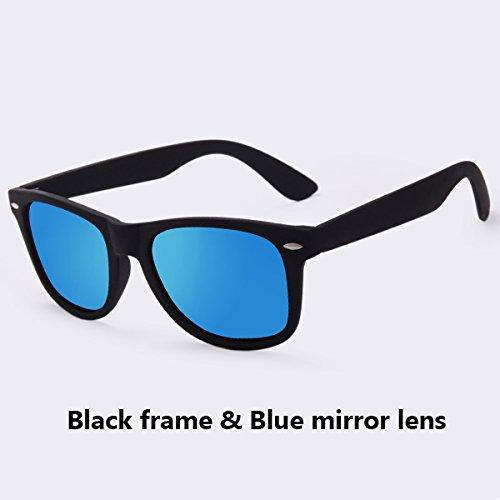 macho negros de gafas sol plata espejos Gafas Guía de Moda de sol hombres UV40 gafas de polarizadas C03espejo puntos mirror Gafas revestimiento TIANLIANG04 Frame C06Blue sol hombre AqZ6Xw