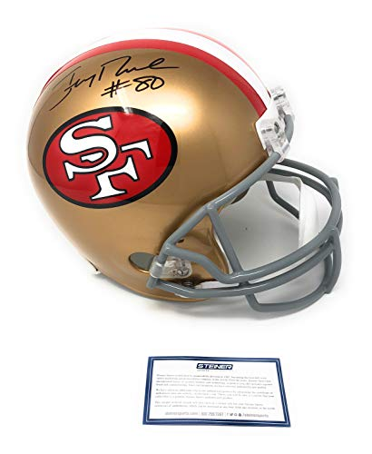 - Jerry Rice San Francisco 49ers Signed Autograph Full Size Helmet Steiner Sports Certified