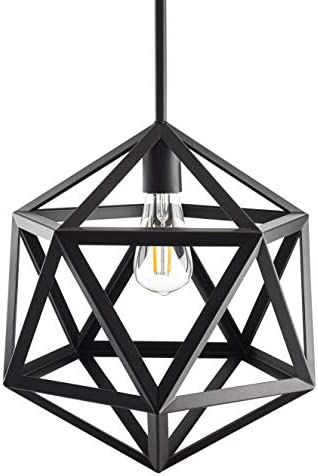 Vizerta Industrial Pendant Light | Black Vintage Modern Hanging Light