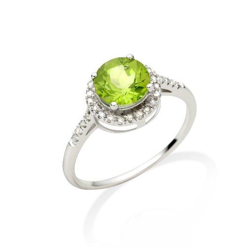 Miore - JM021R14WM - Bague Femme - Or blanc 375/1000 9 cts) - Pérido et diamants