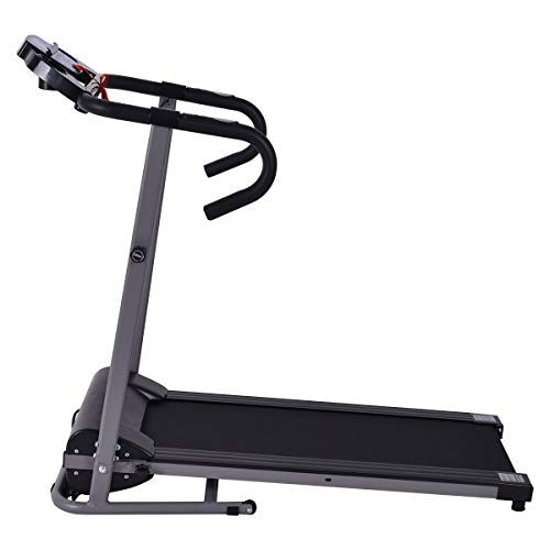 BeUniqueToday 1100 W Foldable Electric Support Motorized Power Running Treadmill, Heavy-Duty Construction 1100 W Foldable Electric Support, Running Treadmill with Multi-Function LED Display