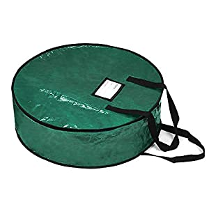 """ProPik Wreath Storage Bag Polyester Tear Resistant Fabric for Holiday Easy Storage Featuring Heavy Handel's and Transparent Card Slot 30"""" X 30"""" X 8"""" 98"""