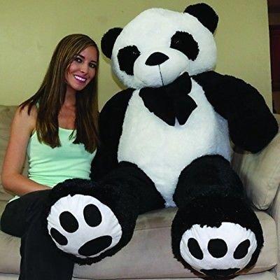 Click4deal Giant Stuffed Spongy Huggable Cute Panda Teddy Bear 6 Feet Multicolor