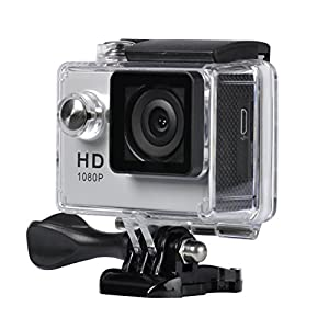YELIN 1080P Full HD 2.0 inch LCD Screen Waterproof Sports Action Camera Cam DV 5MP DVR Helmet Camera Sports DV Camcorder+Extra 1 Batteries