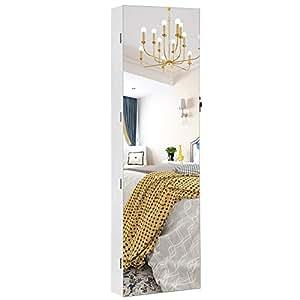 Songmics armario de joyer a colgante armario con espejo - Iluminacion interior armarios ...