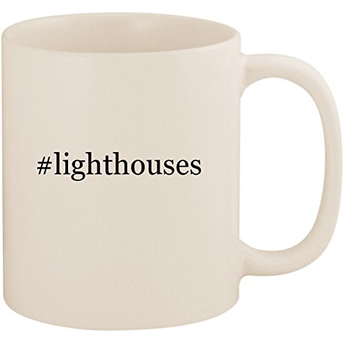 Harbour Lights Ornament - #lighthouses - 11oz Ceramic Coffee Mug Cup, White