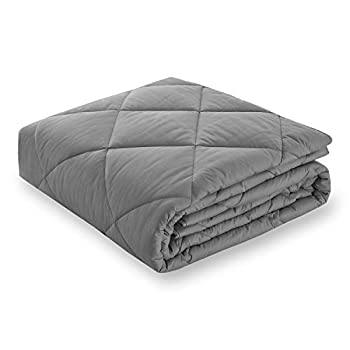 Image of Basic Beyond Weighted Blanket - Heavy Blanket Friendly Glass Bead for Children Youths Adults Great Sleep (60''x80'', 20lbs, Grey) Basic Beyond B07GRRX6S4 Weighted Blankets