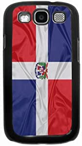 Rikki KnightTM Dominican Flag - Black Hard Rubber TPU Case Cover for Samsung? Galaxy i9300 Galaxy S3