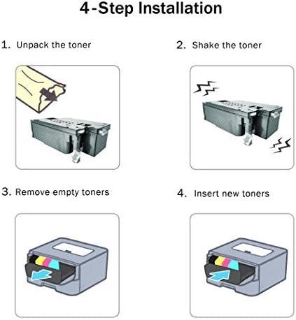 CNY Toner 5 Packs Compatible Dell 5130cdn High Yield Magenta Toner