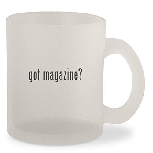 got magazine? - Frosted 10oz Glass Coffee Cup - Glasses Stewart Kristen