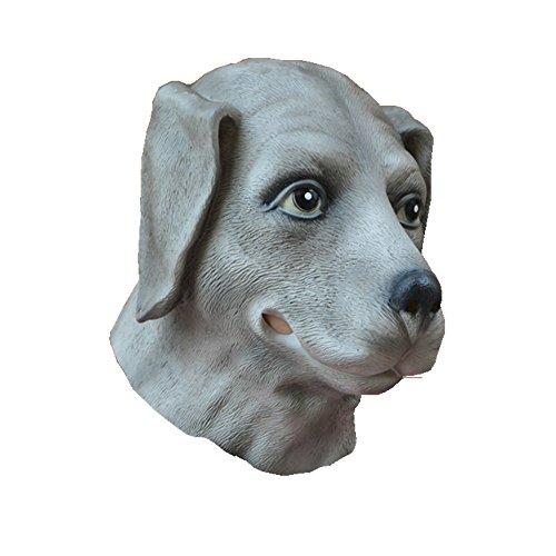 Dog Mask Latex Slip-on Full Head Animal Mask for Halloween Cosplay