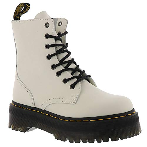 Dr. Martens Women's White Jadon 8 Eye Boot Unisex 5 F(M) UK