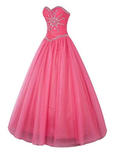 Bbonlinedress Vestido de Fiesta Largo Princesa Elegante Coral
