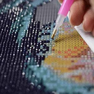 Lavender-5D Diamond Painting Kits for Adults Full Drill DIY Diamond Painting by Number Kits Rhinestone Embroidery Cross Stitch Crafts for Home Wall Decor Gift