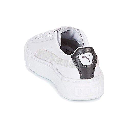 Low Trainer Top Mode Puma Basket Platform White et cuero Chaussures Femmes Coral Aged Euphoria pour 2018 Sneaker Blanc 7FR7q