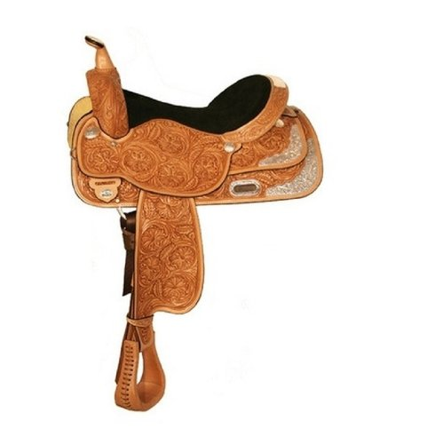 High Horse Gladewater Floral Tooled Show Saddle 15