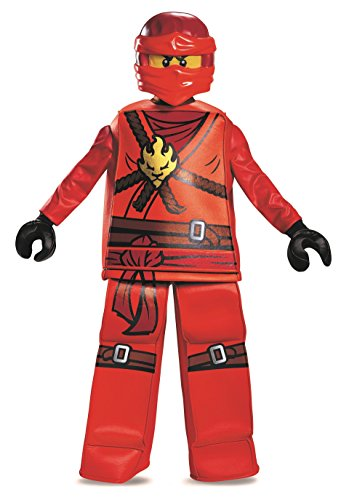 Disguise Kai Prestige Ninjago LEGO Costume, Large/10-12 (Lego Halloween Costumes)