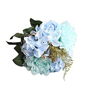 Vacally Artificial Bouquet Fake Flowers Bouquet Floral Evening Party Home Decor 89