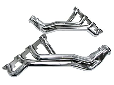 "BBK 1647 1-3/4"" Full Length Long Tube High Flow Performance Exhaust Headers for Dodge Hemi/Charger/Challenger/Magnum/SRT8/Chrysler 300 5.7L - Chrome Finish"