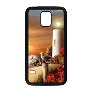 VNCASE Lighthouse Phone Case For Samsung Galaxy S5 i9600 [Pattern-1]