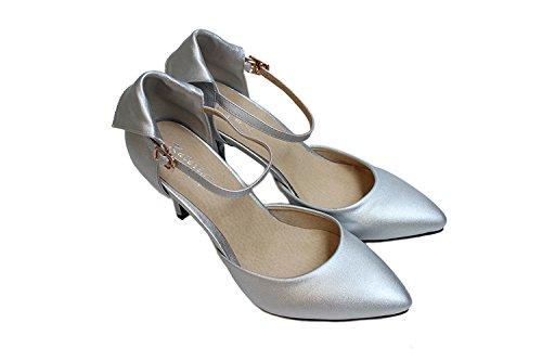 Zapatos plateado formales Kolnoo para mujer 42TJkG