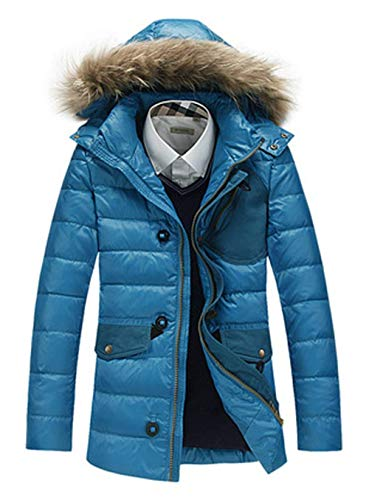 Unique Parka Winter Jacket Jacket Men Men Jacket Jacket Windproof Coat Blau Collar Quilted Coat Hooded Down Fur Men Winter Jacket Men Jacket xpPwXP