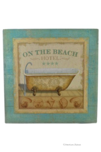 American Chateau Spa Iron Metal Bath Sign Bathroom Hotel On The Beach Wall Door Plaque by American Chateau (Image #3)