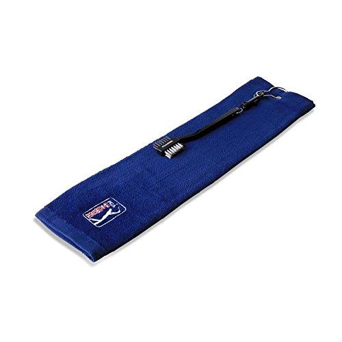 PGA TOUR Handdoek- en borstelset handdoek clip & club brush, blauw