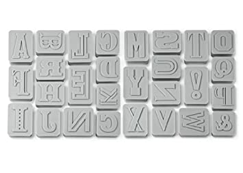 Fred Letterpressed - Cortadores de galletas con forma de letras, color gris: Amazon.es: Hogar